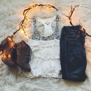 Forever21 Jeweled Top